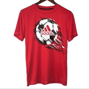 Adidas Red Soccer Shirt